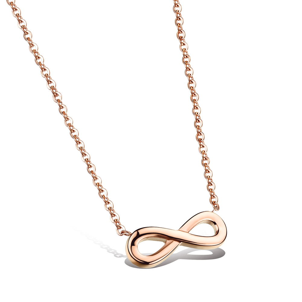 Infinity Necklace - Rose Gold